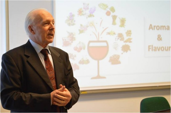 Wine tasting, animated by Lanfranco Paronetto, founder of Lallemand Oenology Italy.