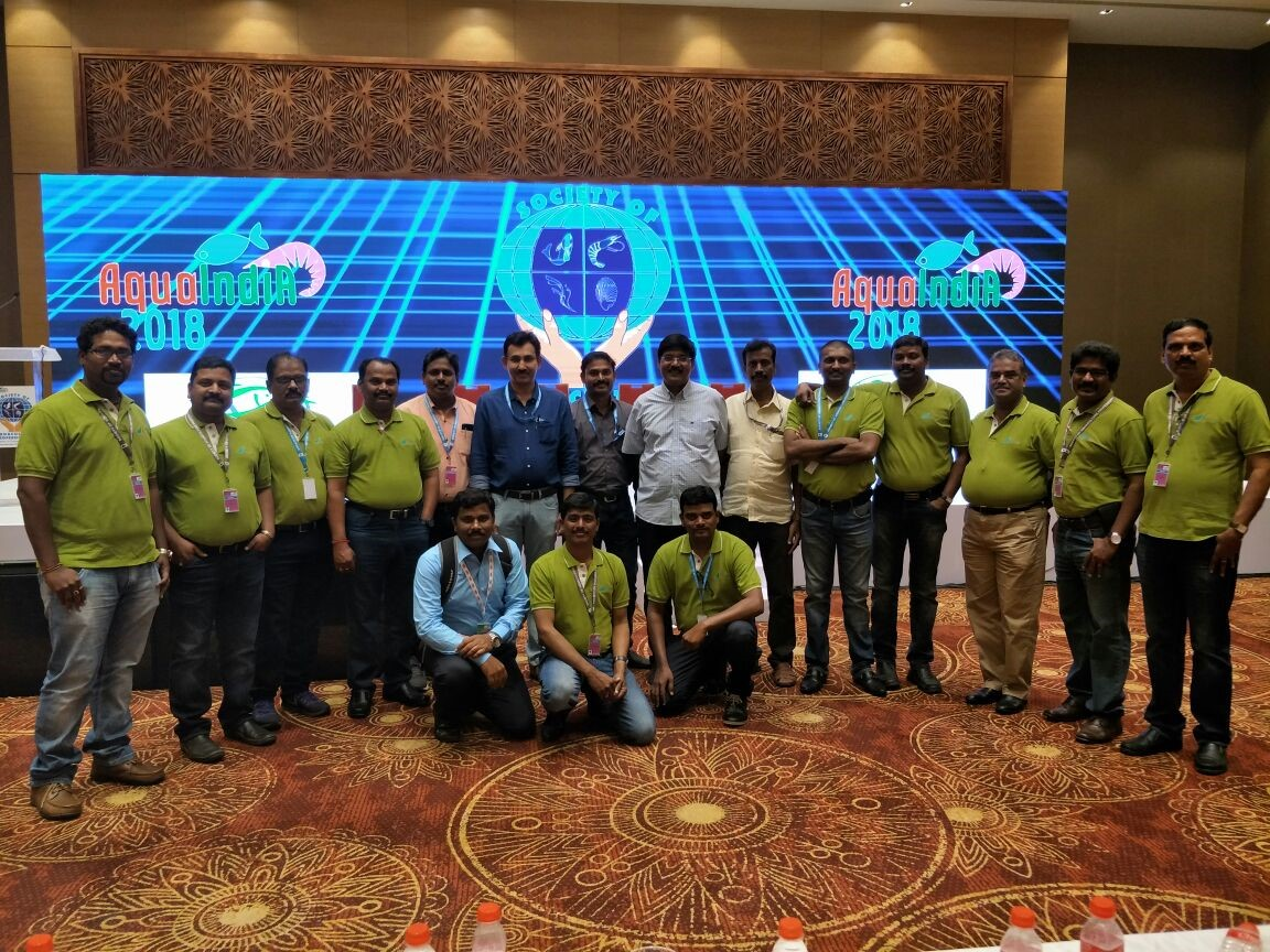 Avanti Technical staff who were participated in Aqua India 2018.