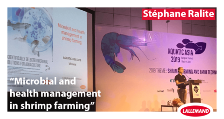 photo of stephane ralite aquaculture product manager from Lallemand Animal Nutrition at the aquatic asia conference 2019