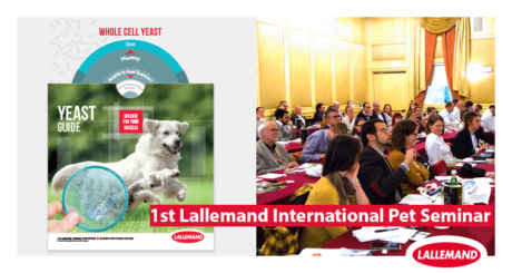 photo of the lallemand animal nutrition yeast guide for pet and attendees of the 1st lallemand international seminar dedicated to petfood