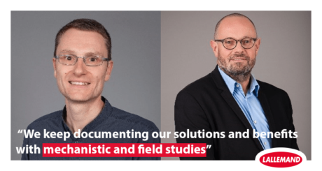 yannig le treut and ludovic arnaud from Lallemand Animal Nutrition
